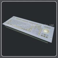 Buy cheap Custom Layout 107 Key Keyboard , Durable Pc Keyboard With Trackball from wholesalers