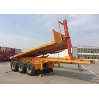 Buy cheap Hydraulic Cylinder Tipper Semi Trailer Dump Truck  For 20 Feet Or 40 Feets Container from wholesalers