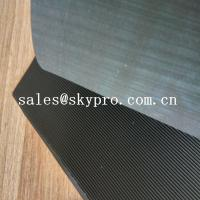 Buy cheap Black High Tensile Rubber Soling Sheets W Wave Pattern Natural Gum Rubber Sheet For Shoe Sole Material product