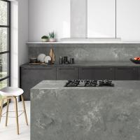 Buy cheap Interior Home Design Materials Solid Surface Artificial 6 MM Grey Quartz Stone from wholesalers