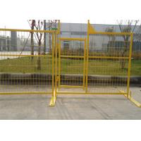 Buy cheap Temporary Construction Fence Panels for Canada standard 6'x9.5' 8'x9.5' mesh spacing4x12' x 9 gauge wire from wholesalers
