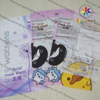 Buy cheap DIY Facial Mask Sheet Of Cosmetic Plastic Bag With Ziplock from wholesalers