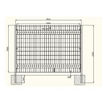Buy cheap Acid Resisting Square Welded Wire Mesh , Welded Wire Fence Panels Simple Structure from wholesalers