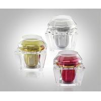 Buy cheap 200g Trapezium Transparent Acrylic Cream Jars Acrylic Bottles Package With Flat & Dome Cap product