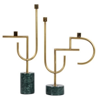 Buy cheap Interior Home Decor Marble Basetall 520mm Gold Candle Holders from wholesalers