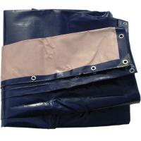 Buy cheap 5M x 11M HEAVY DUTY BLUE BEIGE TARPAULIN Poly Tarp Cover Sheet with Eyelets from wholesalers