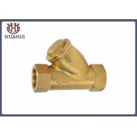 Buy cheap Female Thread Brass Y Type Strainer Fitting SS304 Filter DN20 BSPT Screw from wholesalers