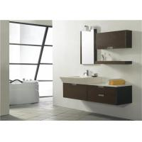 Buy cheap Modern Style Custom Bathroom Vanity Cabinets Lacquer Surface With Quartz Countertop from wholesalers