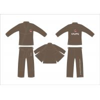 Buy cheap Brown Brazilian Hemp Jiu Jitsu Gi Kimonos Martial Arts Uniforms from wholesalers