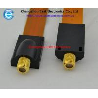 Buy cheap F female to F female flat coupler cable for RG6 RG-6 Flat Cable TV Coaxial Cable from wholesalers