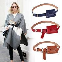 Buy cheap Vintage PU Leather Waist Bag Women Travel Belt Wallets Fanny Bags from wholesalers