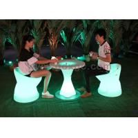Buy cheap PE Plastic Waterproof Outdoor Chairs And Stools Led Glowing Furniture from wholesalers