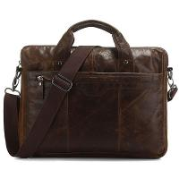 Buy cheap Leather Men's Laptop Bag Briefcase Messenger Bag handbag Purse from wholesalers