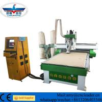 Buy cheap Automatic  tool changing wood carving  CNC router machine with 4*8ft for  kitchen cabinet door from wholesalers