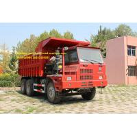Buy cheap SInotruk 6x4  70T Mining Tipper Truck , Dump Truck Bottom Thickness 12mm And HYVA Hydraulic Lifting System from wholesalers