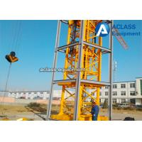 Buy cheap Self - Elevating Internal Climbing Tower Crane Boom Length 50m 6 ton from wholesalers