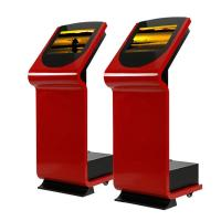 China Wifi 19 Inch Interactive Information Kiosk , Red OPS Structure Digital Kiosks Touch Screen on sale