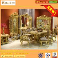 Buy cheap (BK0109-0010)Luxury Italian Palace Wooden Hand Carved Mother of pearl inlays with gold leafs Long Dining Table and Chair from wholesalers