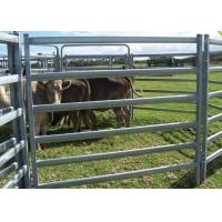 Buy cheap Heavy Duty 6 Rails Oval Tube 40X80MM Horse Yard Panel 1.8X2.1Meter Corral Fence Panel from wholesalers