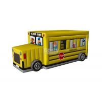 Buy cheap Commercial Inflatable Car Bounce , School Bus Bounce House Inflatable For Kids from wholesalers