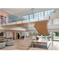 Buy cheap Interior Staircase Clear Frameless Glass Railing Low Maintenance Cost from wholesalers