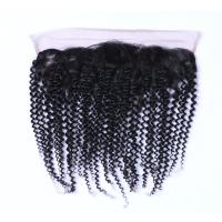 Buy cheap Wholesale Fashion Indian Human Hair Jerry Curly Swiss Lace Frontal With Baby Hair from wholesalers