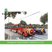 Buy cheap DC Motor 42 Seater Electric Trackless Train For Amusement Park / Shopping Malls from wholesalers