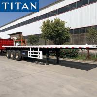 Buy cheap 3 Axle 40 Foot Shipping Container Flatbed Semi Trailers for Sale from wholesalers