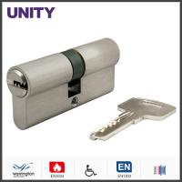 Buy cheap Dimple Key Security Euro Cylinder Lock Matt Chrome EN1634 Fire Protection product