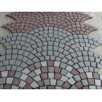 Buy cheap China cheap grey granite G603 paving stone / cube / cobble stone on mesh from wholesalers