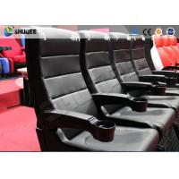 Buy cheap Custom Theme Park 4D Movie Theater Blue Motion Chairs Imax Movie Theater from wholesalers