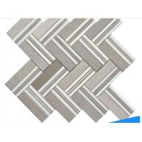 Buy cheap High Quality Non-Slip Hrringbone Marble Mosaic Wall Floor Tile from wholesalers
