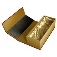 Buy cheap custom printed brown paper gift packaging boxes with satin clothing from wholesalers