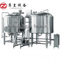Buy cheap High Performance Beer Brewing Machine , 0.15 - 0.3Mpa Beer Manufacturing Plant from wholesalers