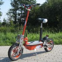 Buy cheap 1000w Foldable Electric Scooter With Big Wheel Rim , Front And Rear Disc Brake from wholesalers