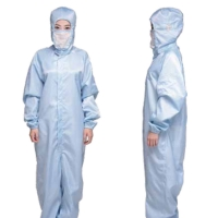 Buy cheap 98% Conductive PE SMS Dust Free ESD Cleanroom Coverall product