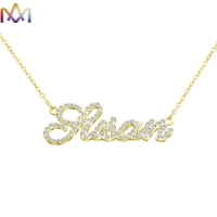 Buy cheap SS304L Sparkling Name Necklace With Elegant Nameplate Pendant from wholesalers