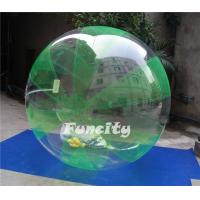 Buy cheap Green and Clear Color OEM PVC or 0.8MM TPU Inflatable Water Walking Ball for Water Sports Games from wholesalers