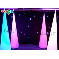 Buy cheap Wholesale Attractive LED Lighting Inflatable Cone For christmas /party /event Decoration from wholesalers