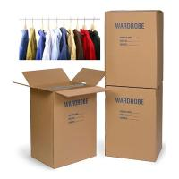 Buy cheap Colored Corrugated Wardrobe Moving Boxes Packaging Corrugated Paper Carton Plus Bars from wholesalers