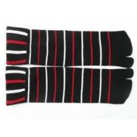 Buy cheap Unisex Breathable Grey / Black 100% Cotton Stripe Two Toe Socks For Shoe Size 5-9, 10-13 from wholesalers