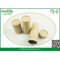 Buy cheap Durable Kraft Paper Tube Packaging , Custom Printed Paper Cylinder Containers from wholesalers