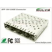 Buy cheap SFP 1x4 CAGE Connector SFP Jack With LEDs from wholesalers