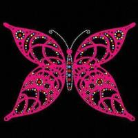 Buy cheap Rhinestone and Glitter Hot Fix Motif, Butterfly Design from wholesalers