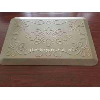 Buy cheap White Relief Pressure Standing Kitchen Padded Floor Mats OEM Logo Kitchen Mat from wholesalers
