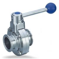 Buy cheap Clamp Butterfly Valve Stainless Steel Sanitary Fittings Quick Install from wholesalers