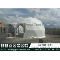 Buy cheap Clear Walls Large Dome Tent With Hot Galvanized Steel Frame 6m Diameter from wholesalers