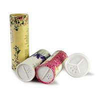 Buy cheap Gold stamping Paper Tube Packaging For Powder / Spice With Sieve Cover product