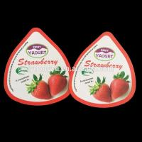 Buy cheap High-quality fruit yogurt cup packing lids, triangle cup lids/cup top cover from wholesalers