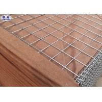 Buy cheap Brown Hesco Defensive Barriers , Galvanized Gabion Box Effective Protection from wholesalers